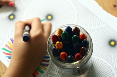 child care crayons