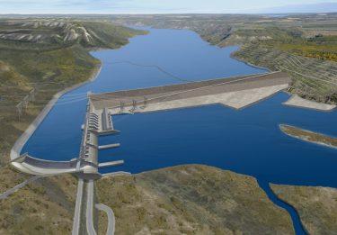 Site C Dam artist rendering